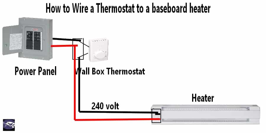 how to wire a thermostat to a baseboard heater