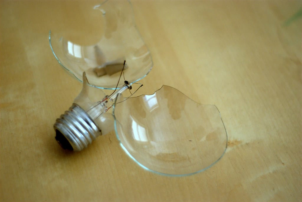 how to remove a light bulb from its holder