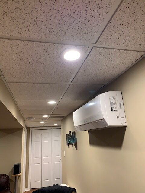 how to install pot lights in a vaulted ceiling