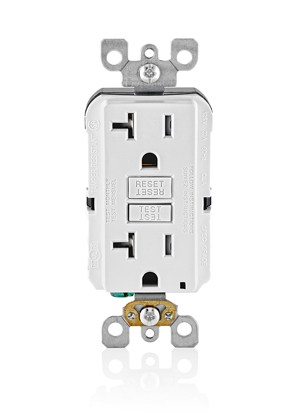 gfci outlet test button won't push in